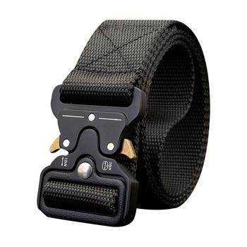115-135CM Brand Canvas Belt Tactical Designer Men Belts Cobra Buckle Long Nylon Belts Multi-function Quick-drying Male Army Belt