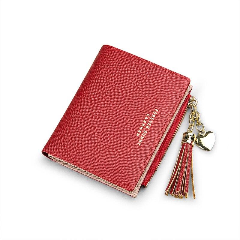 Luxury Brand Fashion Women Wallet 2020 Tassel Short Wallet Ultra-thin Mini Wallet Zipper Purses Portefeuille Female Purse Clutch