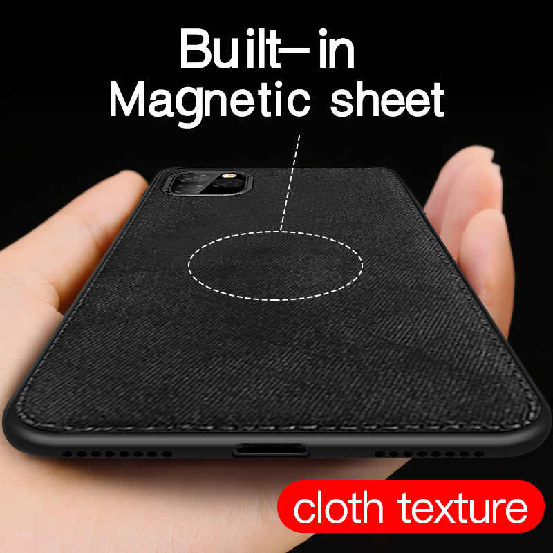 Luxury Magnetic Fabric Cloth Case For iPhone11Pro XS Max XR X 7 8 Plus 6 6s Ultra-thin  Texture Soft Silicone Phone Cases Cover