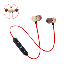 Sport Neckband Earphone BT4.1 Wireless Bluetooth Headset Magnetic Bass Noise Cancelling Headphone With Mic For Phone Earbuds XT6 huan yun wireless bluetooth earphone with tf card slot with mic for phone neckband sport magnetic headphone headset stereo bass
