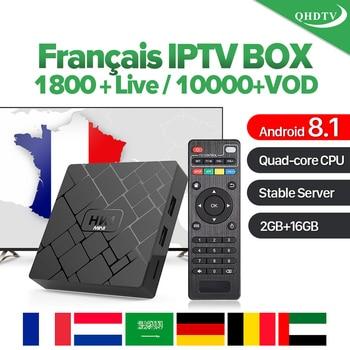 France Arabic IPTV HK1 Mini RK3229 Android 8.1 IP TV Subscription Netherlands Algeria Belgium Qatar 1 Year IPTV Subscription