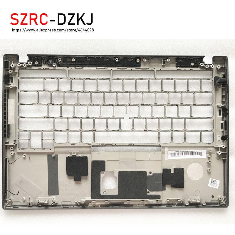 Novo portátil original lenovo thinkpad t490s palmrest caso/a capa do teclado com buraco de impressão digital sm10q26223 am1br000400