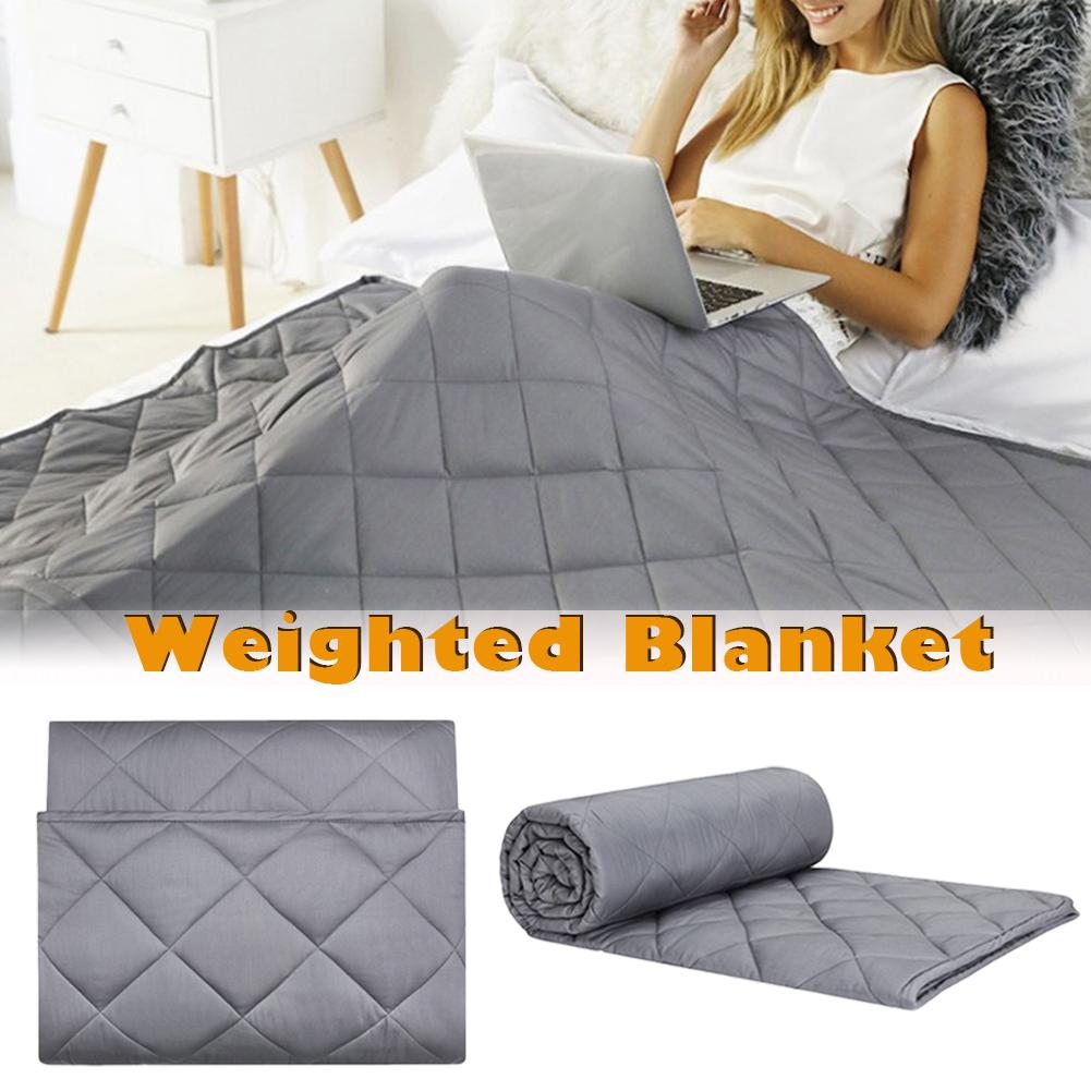 Cotton + fiber Weighted Blanket Glass Beads Environmentally Friendly Ventilation Relieve Stress Children Adults Weight Blanket|Throw| |  - title=
