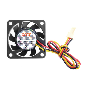 DC 12V 0.10A 3-Pin 40x40x10mm PC Computer CPU System Brushless Cooling Fan 4010 image