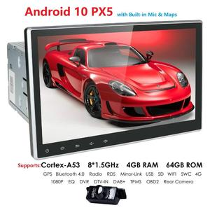 Image 1 - 2 דין 4G 64G רכב רדיו לרכב אוניברסלי נגן dvd GPS ניווט bluetooth רכב אבזר 4G אינטרנט אנדרואיד 10 אוקטה Core DSP