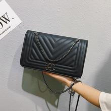 Luxury European Style Chain Shoulder bag women New PU Leathe