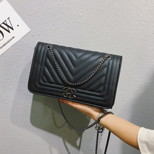 Luxury European Style Chain Shoulder bag women New PU Leather