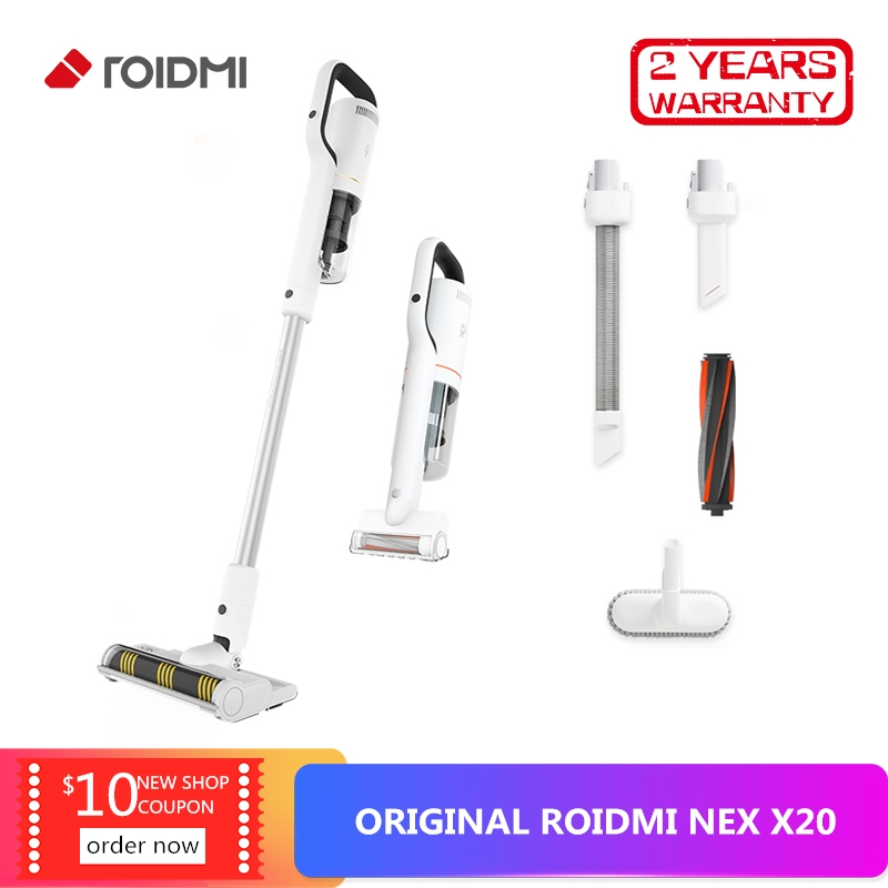 Original Xiaomi ROIDMI NEX X20 Cordless Stick Vacuum Cleaner 25000Pa Powerful Suction Low Noise Lightweight 2 In 1 Dry And Wet