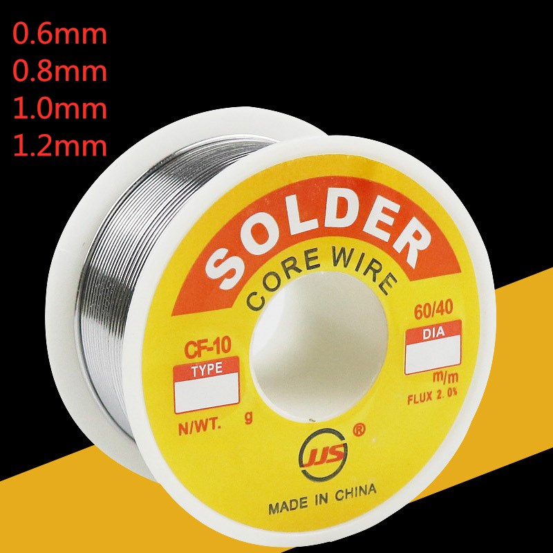 <font><b>60/40</b></font> <font><b>Solder</b></font> FLUX 2.0% 100g Mental Tin Lead Tin Wire Melted Rosin Core <font><b>Solder</b></font> Soldering Wire Roll --M25 Electronic Welding Wire image