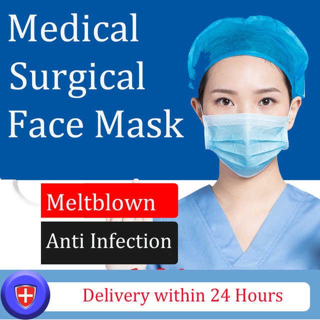 20Pcs/bag 3 Layers Meltblown Mouth Mask Non-wove 3 Layer Disposable Mask Medical Surgical Mask Anti infection Flu Anti Infection