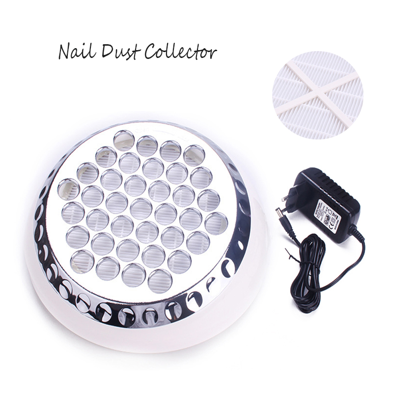 Image 5 - 60W Nail Dust Collector Kit Professional Nail Art Dust Extractor Collecting Fan Manicure Vacuum Cleaner Nail Dirt Filter-in Nail Art Equipment from Beauty & Health