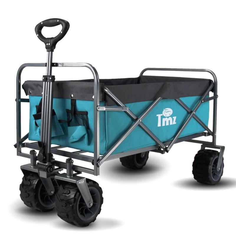 TMZ Outdoor Camping Folding Camp Car Supermarket Shopping Pet Luggage Trolley Portable Travel Folding Trolley