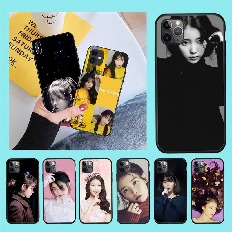 NBDRUICAI KPOP <font><b>Korean</b></font> singer-songwriter IU Soft Silicone TPU Phone Cover for <font><b>iPhone</b></font> 11 pro XS MAX 8 7 6 6S Plus X 5S SE <font><b>XR</b></font> <font><b>case</b></font> image