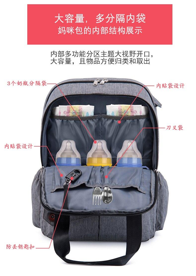 Cross Border,, сумка для подгузников, многофункциональный рюкзак большого объема, обновленный Mom DADDY'S рюкзак сумка под подгузники