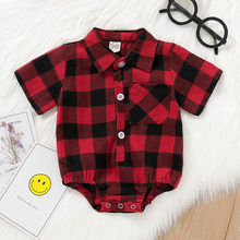 Summer Infant camiseta Turn-Down Collar Newborn Baby boys shirts Kids Girl Cartoon Letter Summer Rompers kids clothes boys 2019(China)