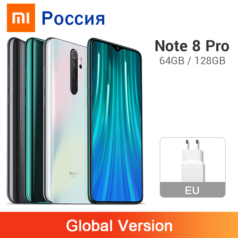 Global Version Xiaomi Redmi Note 8 Pro 6GB 64GB / 128GB 64MP Quad Rear Camera Smartphone NFC 4500mAh Helio G90T Mobile Phone(China)