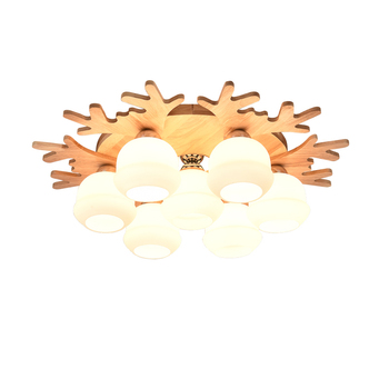 Antler Ceiling Light   Japanese-style Tatami Ceiling Lamp LED Living Room Lamp Nordic Wood Warm Creative Antler Children Room Bedroom Lamps