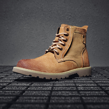 2019 New Arrival Spring Autumn Boots Men Suede Leather Retro Style Fashion Male Work Shoes Lover Martin Boot 5#19D50
