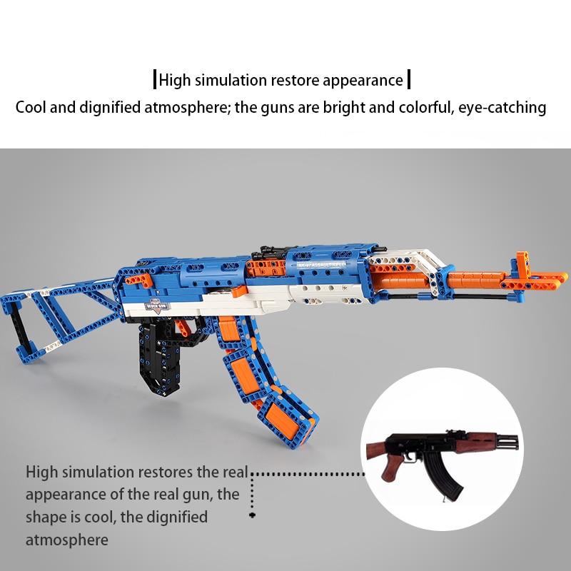 Cada C81001W AWP Revolver Pistol Brick AK47 Riffle Gun