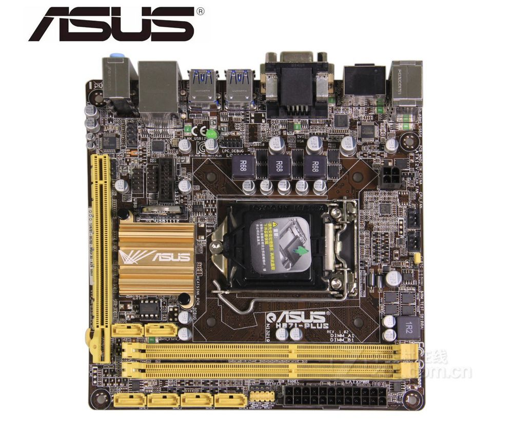 ASUS H87I-PLUS original desktop motherboard LGA 1150 DDR3 <font><b>USB3</b></font>,0 SATA3 <font><b>PCI</b></font>-E 3.0 mainboard used PC BOARDS image