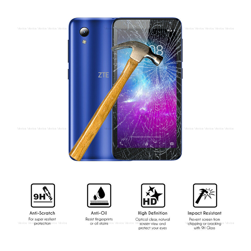 Clear Screen Protector Tempered Glass Film For ZTE Blade A510 A7 2019 V10 Vita Axon 7 2