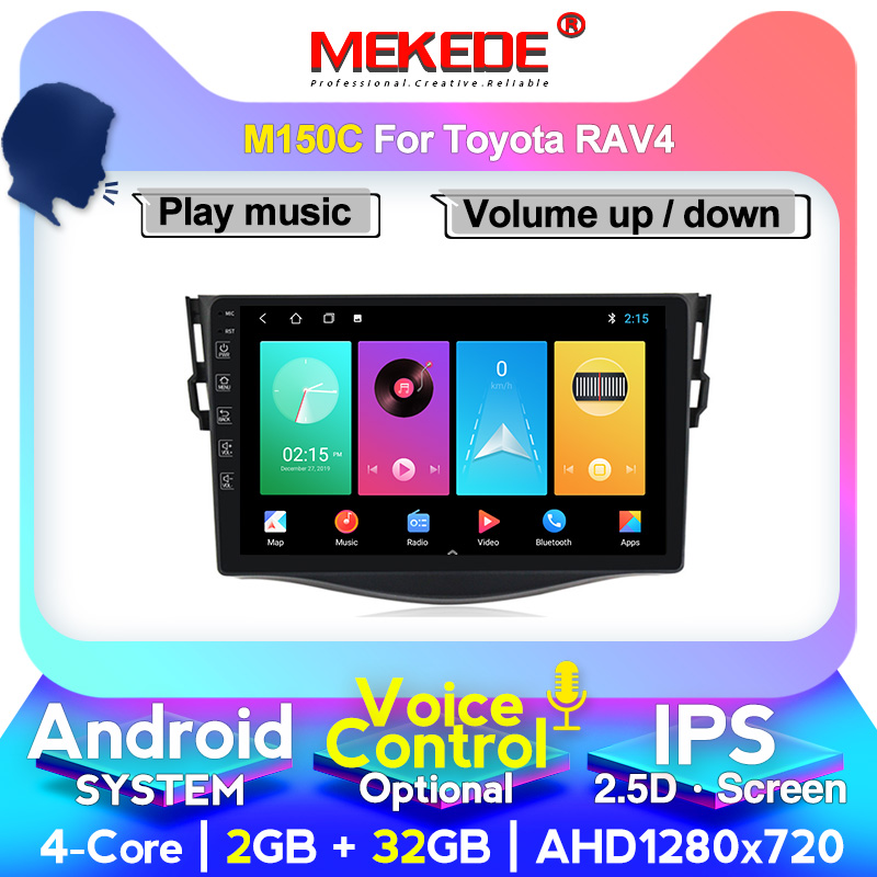 MEKEDE 2.5D 2Din Car Multimedia for <font><b>Toyota</b></font> <font><b>RAV4</b></font> 2007 2008 2009 <font><b>2010</b></font> 2011 Autoradio RDS GPS wifi cassette image