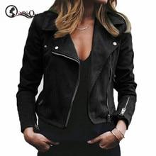Jacket Women Leather Jacket 2019 Autumn Winter New Lapel Dia