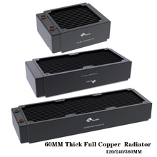 Bykski 60mm Thick Full Copper PC Cooling Radiator 3 Floors Channel,Water Cooling Row For PC Cooler Heatsink 120/240/3 60MM