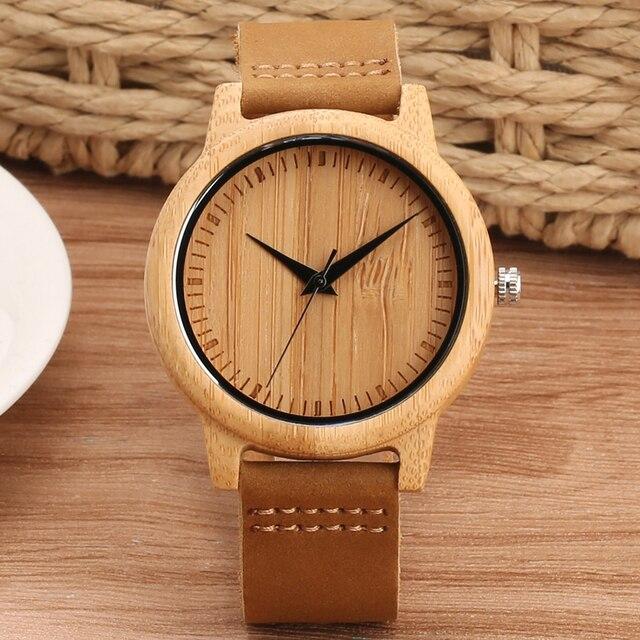 montre bambou