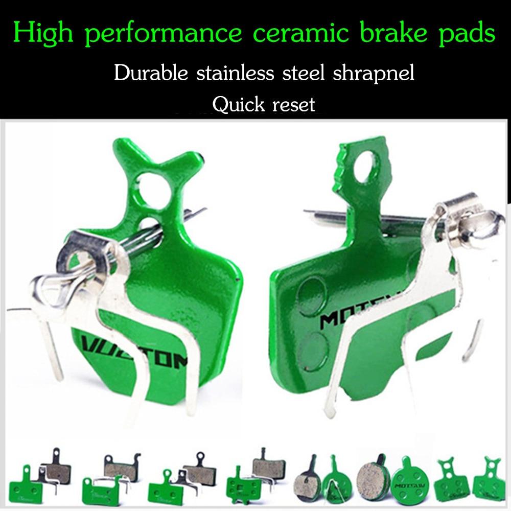 Купить с кэшбэком MOTSUV 4 Pairs Bicycle Ceramics Disc Brake Pads for MTB Hydraulic Disc Brake SHIMAN0 SRAM AVID HAYES Magura Formula Bicycle Pads
