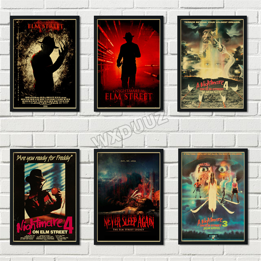 Horror movie nightmare poster retro art deco wall art Home Decor Painting quality posters canvas painting M326