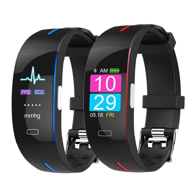 Sport <font><b>Smart</b></font> Bracelet <font><b>P3</b></font> Plus ECG+PPG Blood Pressure Heart Rate Monitor Color Screen <font><b>Smart</b></font> <font><b>Band</b></font> Fitness Activity Tracker Watch image