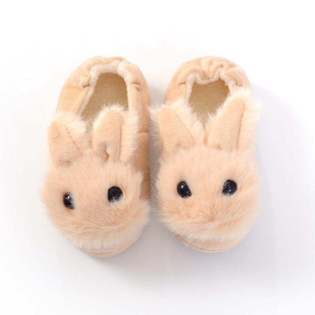 Hc29020603a204f4aacfea863bc214691T Sapatos para crianças de algodão, sapatos para crianças meninos e meninas de outono, chinelos fofos com orelhas de coelho, espessamento de bola, sapatos internos