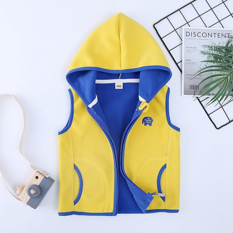 Sundae Angel Polar Fleece Vest Girl Autumn Hooded Animal Waistcoats For Boys High Quality Kids Gilet Fille Children Vests 2-8 Y 5