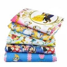 50*145 см мультфильм лоскутное полиэстер хлопок ткань для ткани детское платье принцессы постельные принадлежности домашний текстиль для шитья, 1Yc459