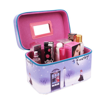 Cute Pattern Iron Tower Women Makeup Box Professional Portable Zipper Large Cosmetic Bag Much Colors 5