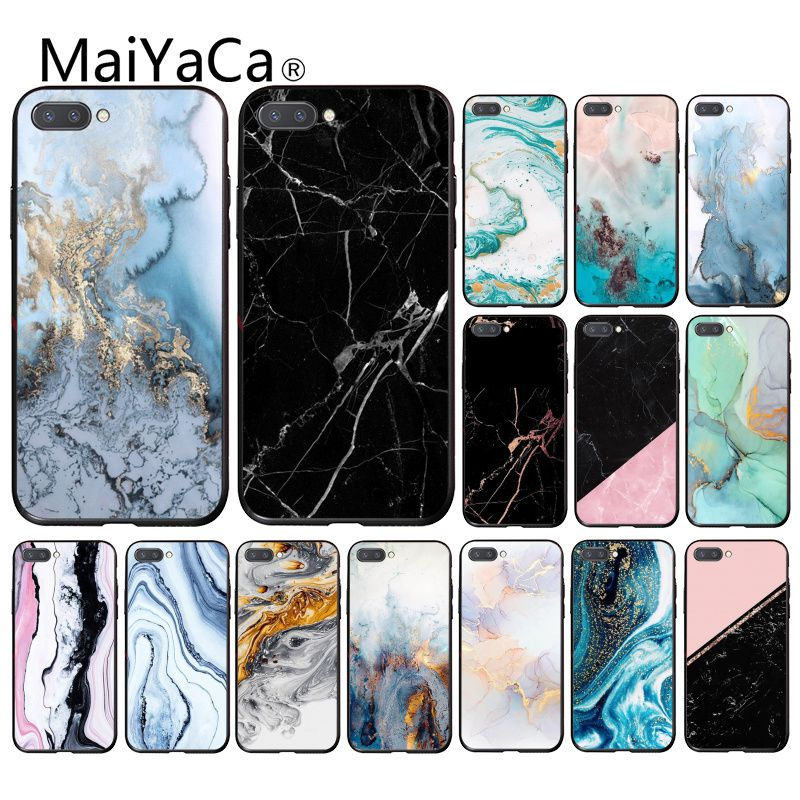 Maiyaca Marble Collage Print Phone Case For Huawei Honor 8X 9 10 20 Lite Honor 7A 7C Honor10i View20