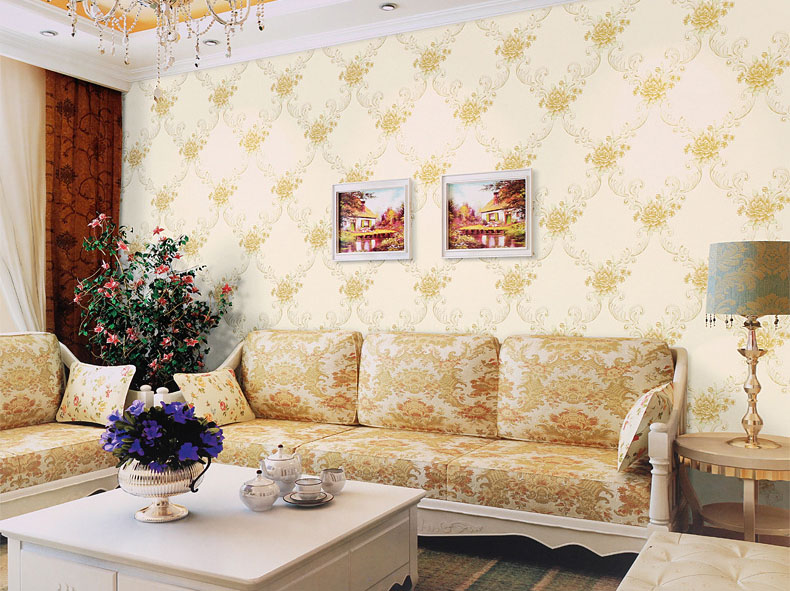Poloere,multiple Color Wall Paper Modern Design Wallpaper  Sticker Roll   Host Sell Living / Guest Room , DIY  Decoration