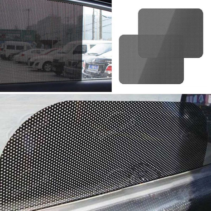 2pcs/Lot 72*52cm Universal UV Sticker Car Sunshades Sticker Side Window Sunshades Sunscreen Film Sticker Car Cover Styling