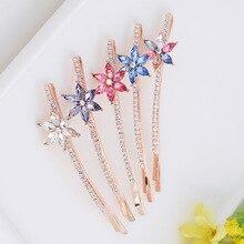 Korean Crystal Hairpin for WomenFashion Rhinestones Hair Cli