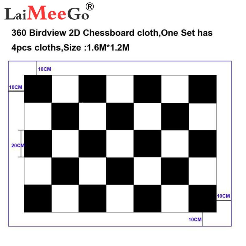 Car Camera Correction Calibration 360 Birdview 2D Chessboard Cloth For 360 Degree Surround Bird View Panoramic DVR Debugging