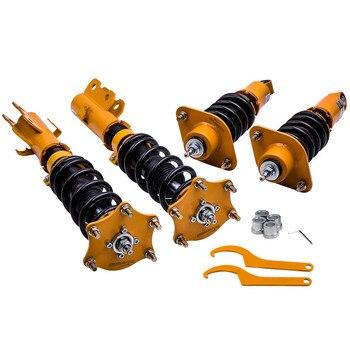 Komplette Gewindefahrwerk Kits für HONDA CRV CR-V 2007-2011 Adj. Dämpfer Stoßdämpfer Top Halterungen Vorne Hinten Sturz Platte Frühling