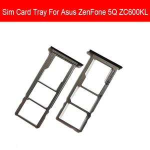 Черный держатель лотка для Sim-карты для ASUS ZenFone 5Q ZC600KL адаптер для Sim SD-карты гибкий ленточный кабель запасные части для ремонта