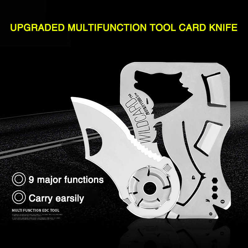 Mini Bolso Facas Ao Ar Livre Ferramentas de Auto-defesa EDC Carteira de cartão de crédito faca dobrável ao ar livre knifePendant Hand Tool