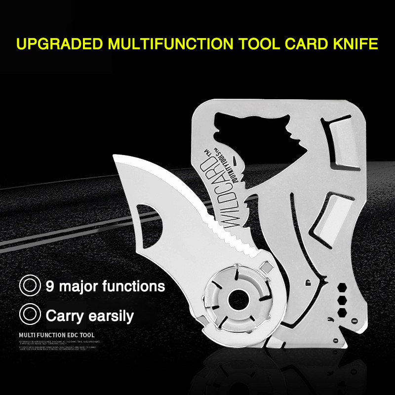 Mini Pocket Knives Outdoor Self-defense EDC Tools Wallet Credit Card Knife Outdoor Folding KnifePendant Hand Tool