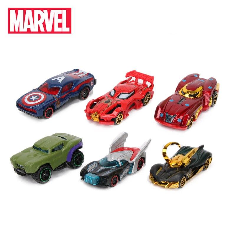 Pack Of 6 Marvel Toys Avengers 3 Infinity War Alloy Cars Set Truck Model Spider-man Captain America Ironman Hulk Superheros Car