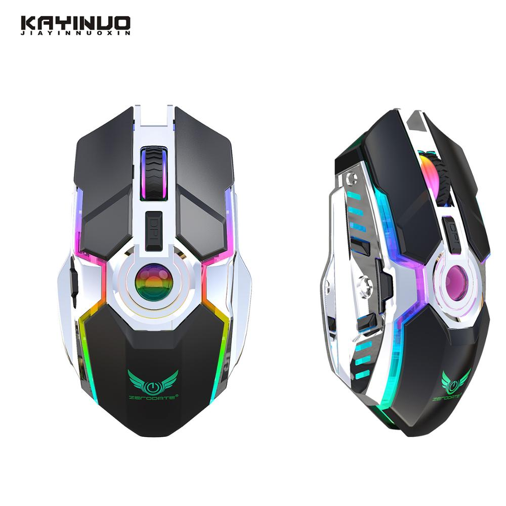 2.4Ghz Gaming/wireless Mouse Rechargeable 7 Buttons DPI Adjustable 5 RGB Backlight Computer Mouse For Pc/laptop/computer/desktop