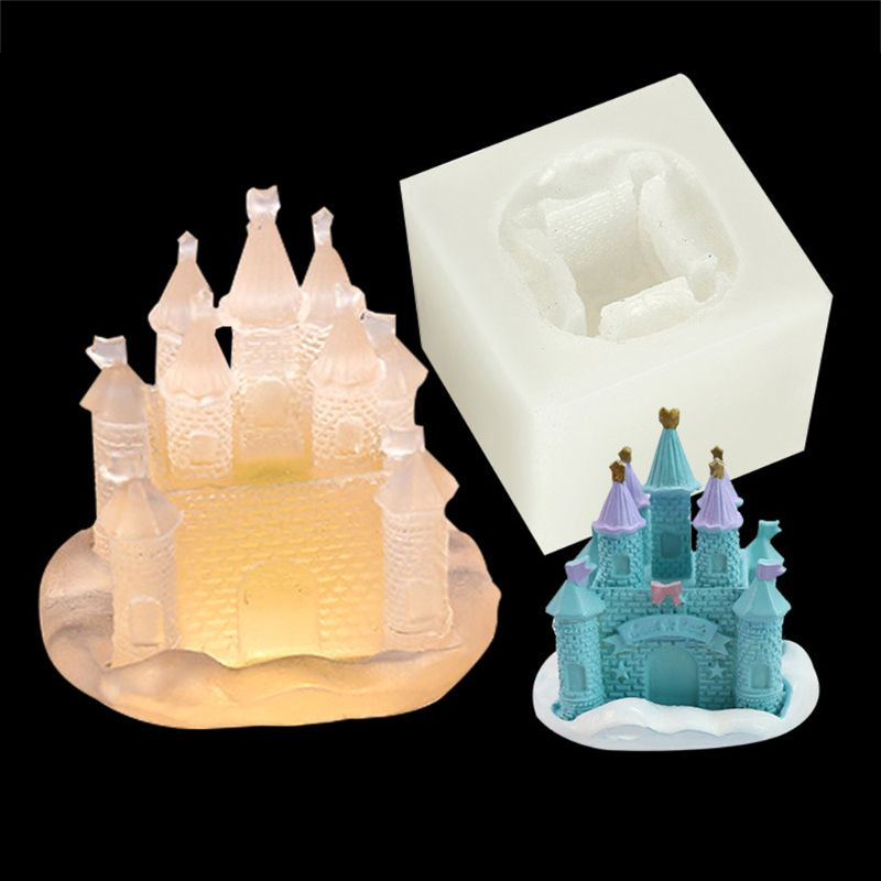 Castle Shape High Mirror Silicone Mold DIY Epoxy Resin Decoration Ornaments Molds Jewelry Making Accessories