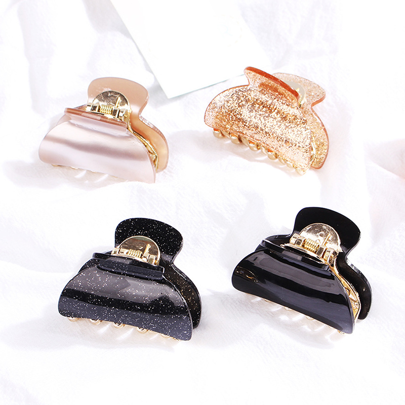 New Fashion Girls Acrylic Mini Hair Claws Square Round Clips Clamps Cute Small Solid Color Hair Pin Crab Hair Accessoriesp