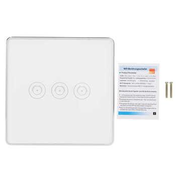 Sterowanie przez Wifi przełącznik inteligentny przełącznik włącznik dotykowy na ścianę dotykowy przełącznik oświetlenia dla inteligentnych scen dla inteligentnego domu tanie i dobre opinie Hilitand CN (pochodzenie) NONE Other